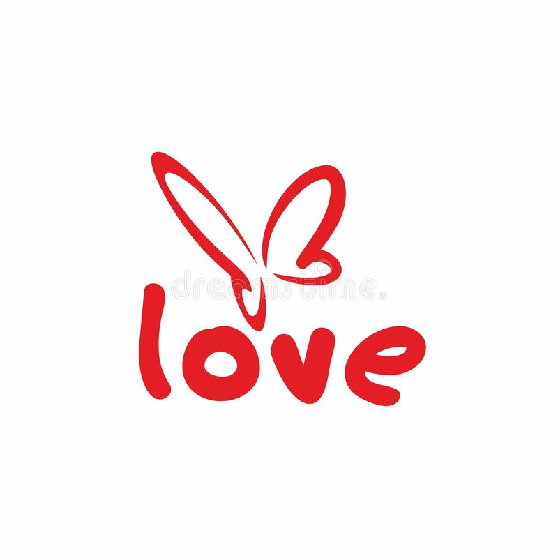 Love butterfly royalty free illustration