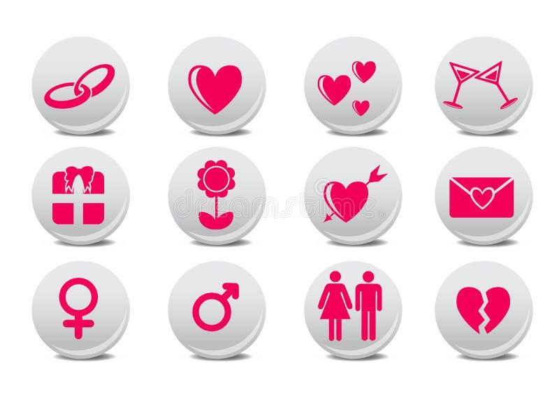Download Love buttons stock vector. Image of honeymoon, gift, design - 7818540