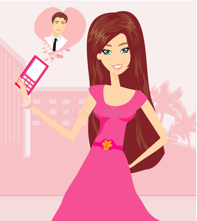 Download Love call stock vector. Image of person, illustration - 32387329