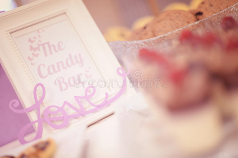 Love candy bar stock images