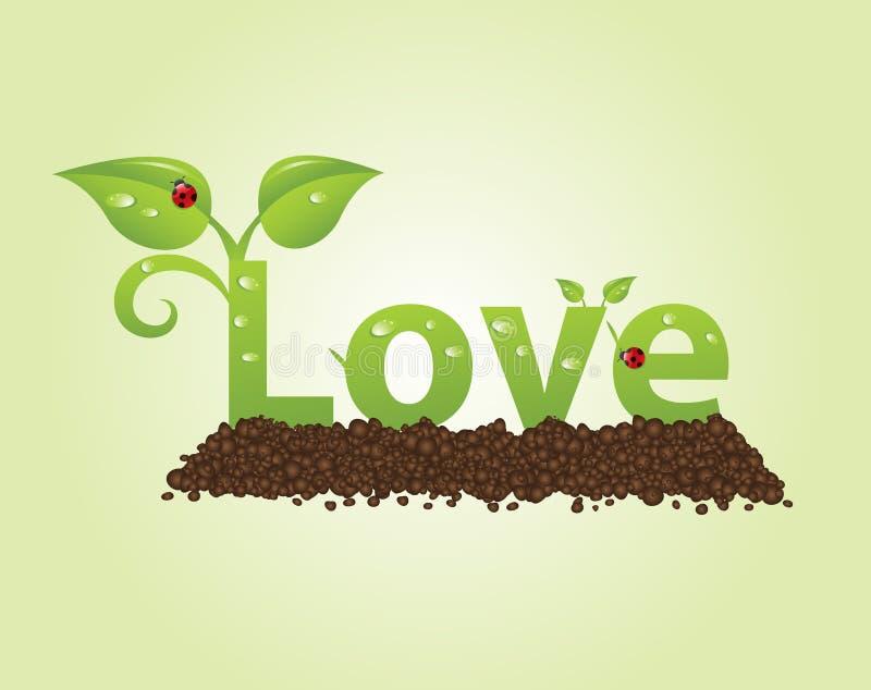 Love caption stock illustration
