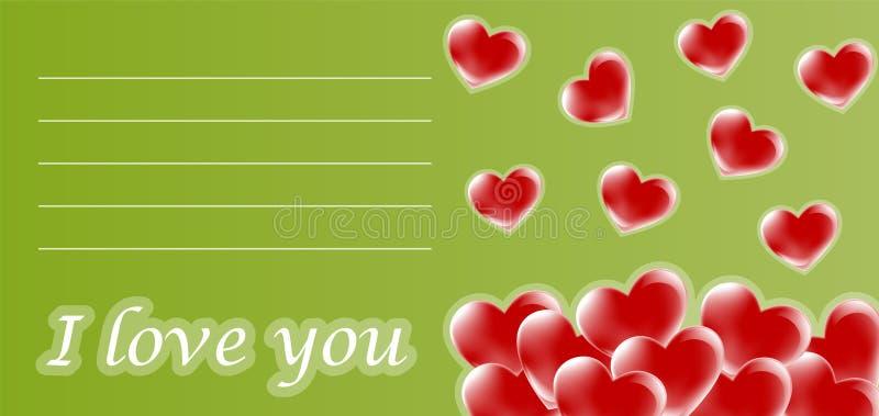 Download Love card stock vector. Image of card, letter, rose, design - 7529715
