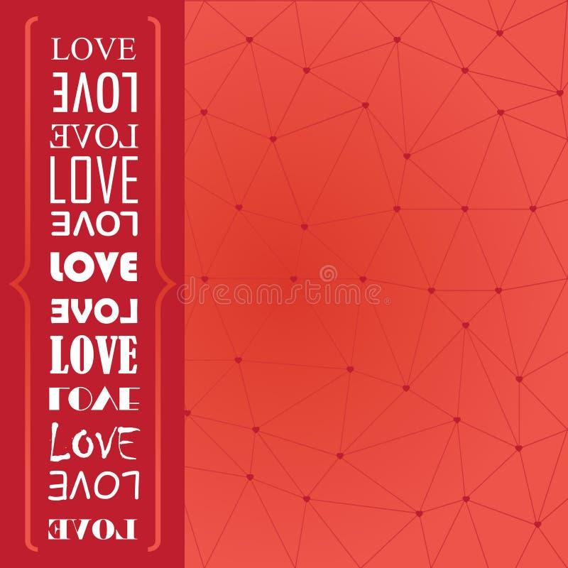 Love card vector illustration