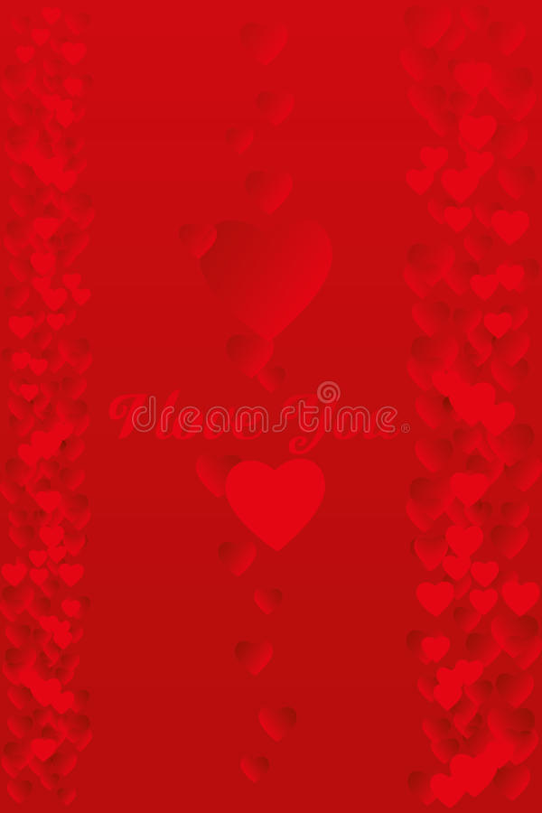 Love card with glowing hearts. And text I love you - as jpg and eps file available royalty free illustration