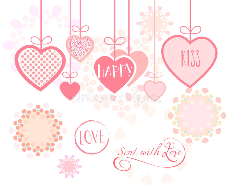 Love Romance Holiday Greeting card royalty free illustration