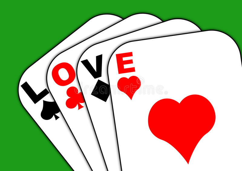Download Love On The Cards Green Background Stock Illustration - Illustration of expectation, romance: 12975115