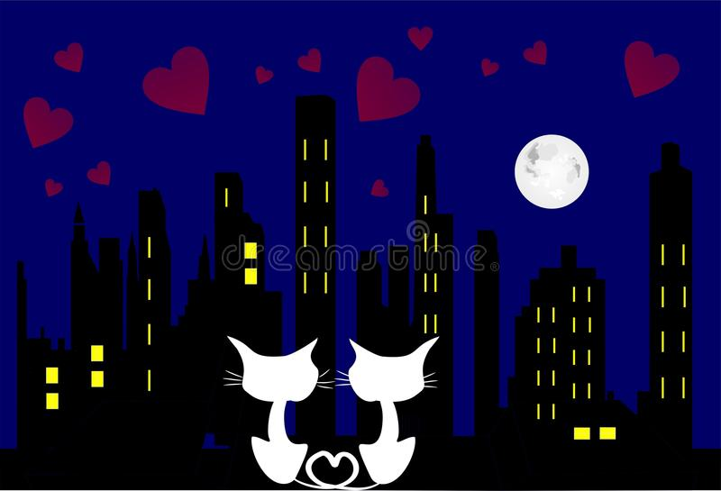 In Love Cats Royalty Free Stock Photography