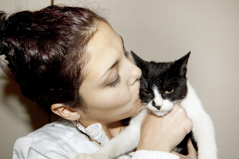 Download Love for Cats stock photo. Image of affectionate, black - 46646146