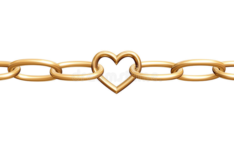 Love chain vector illustration