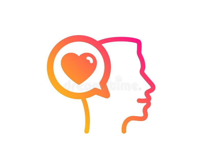 Love chat icon. Heart symbol. Vector vector illustration