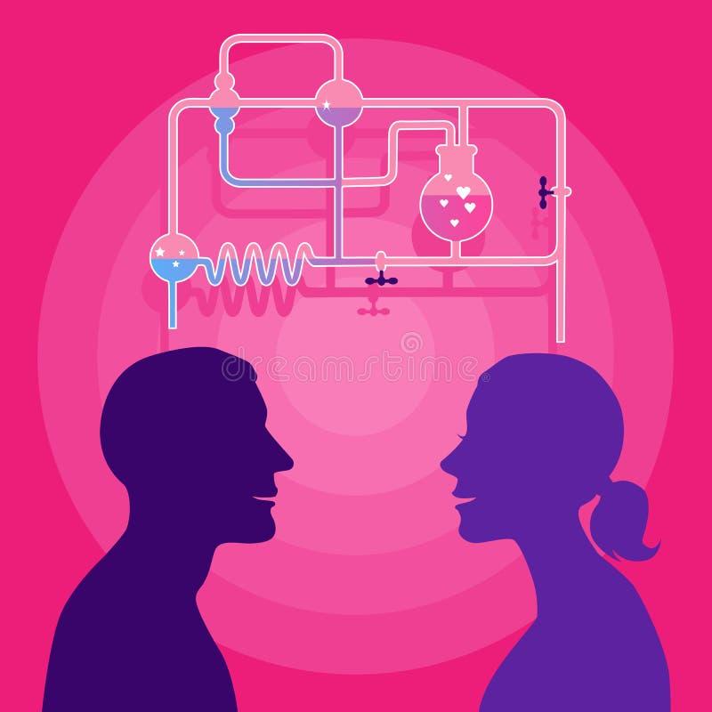 Download Love chemistry stock vector. Image of illustration, feeling - 38386643