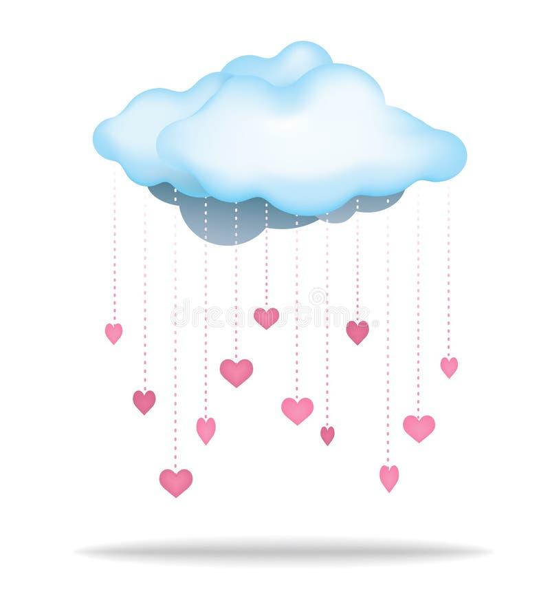 Rain of Love Cloud vector illustration