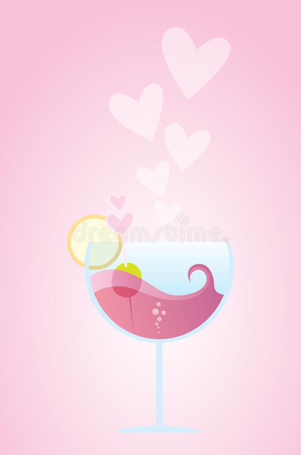 Love Cocktail royalty free stock photography