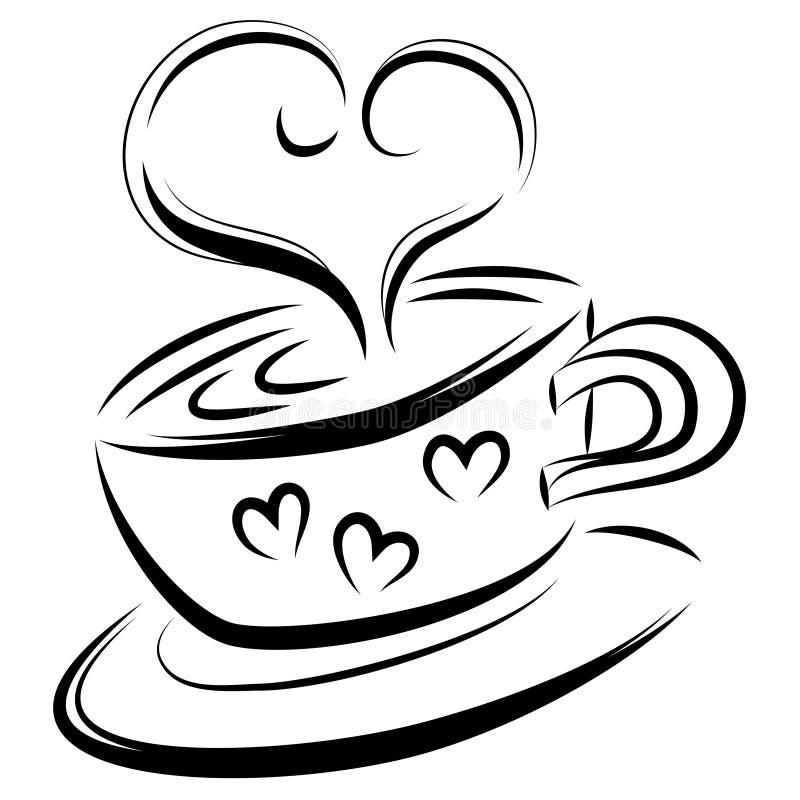 Love coffee royalty free illustration