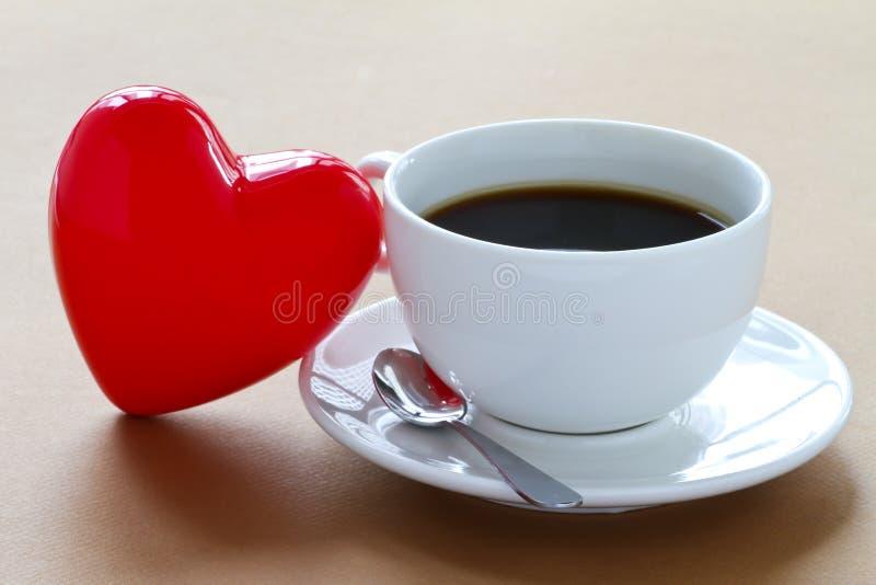 Love of coffee stock photo