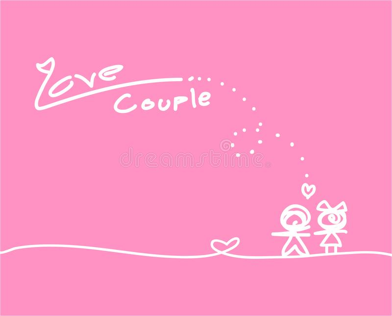 Love Collection on white background, vector illustration royalty free stock images