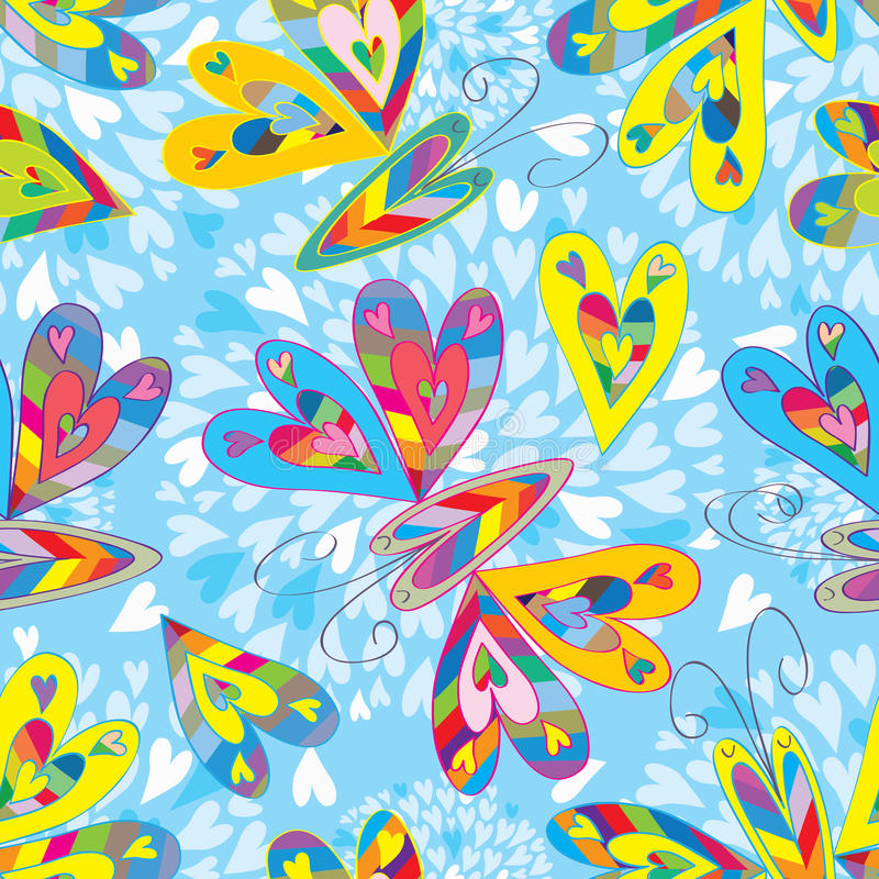 Free Love Colorful Butterflies Seamless Pattern_eps Royalty Free Stock Image - 38687606