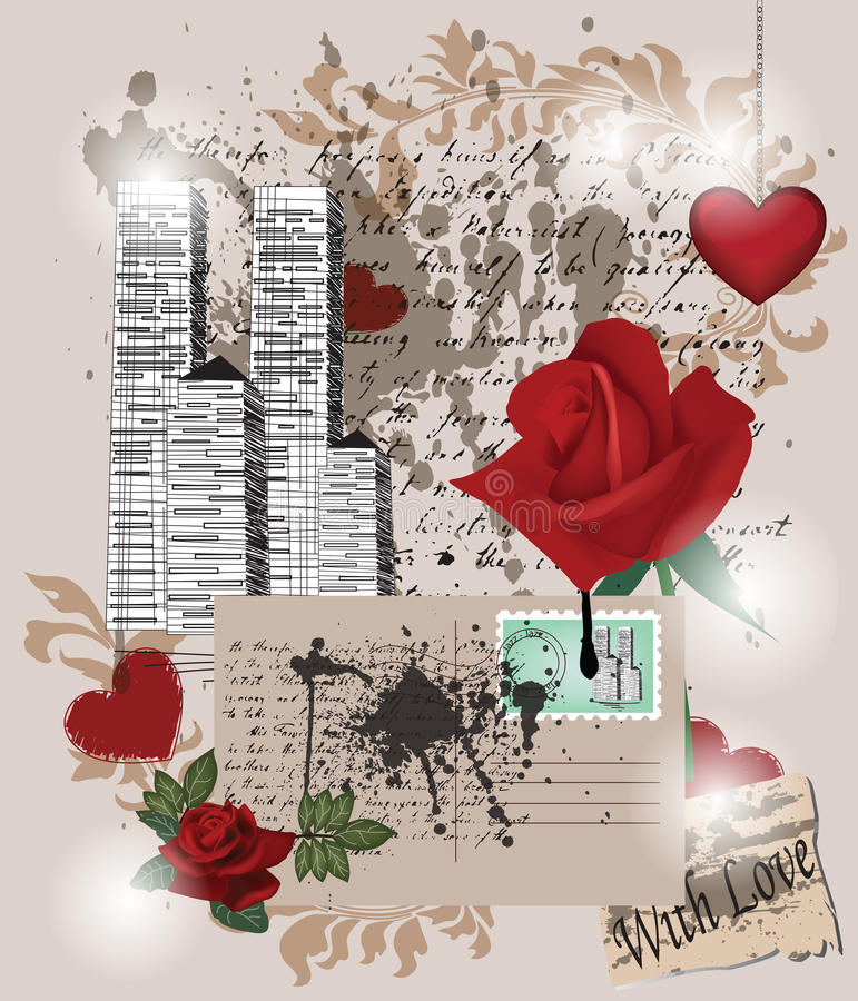 Download Love composition stock vector. Image of illustration - 22707138