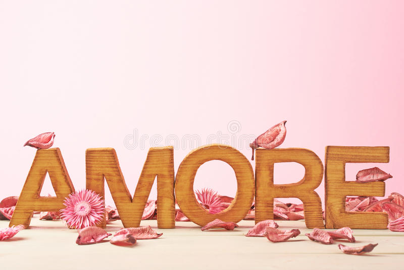 Love composition of letters royalty free stock image