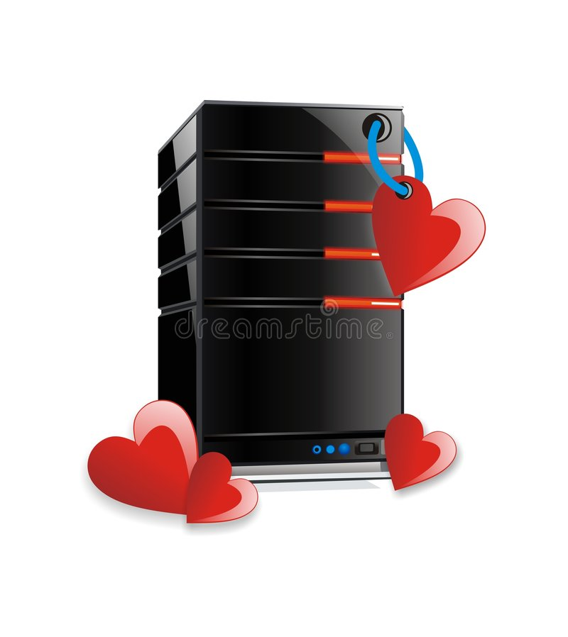Love Computer Server stock photo