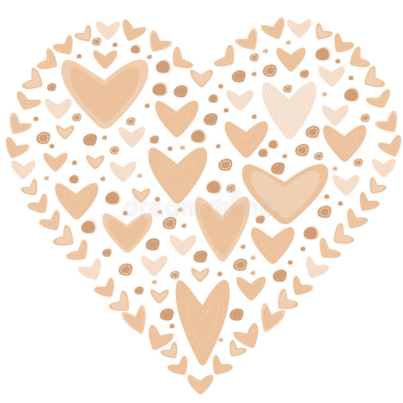 Download Love Concept Of Hearts In The Shape Of A Heart Stock Vector - Image: 83711229