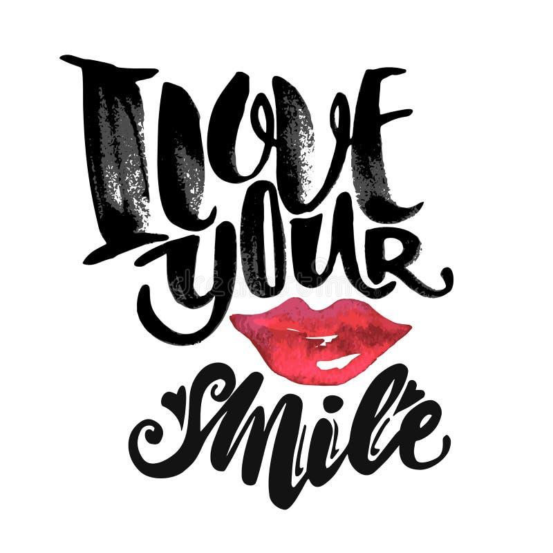 Love concept inspirational hand lettering motivation poster. stock illustration