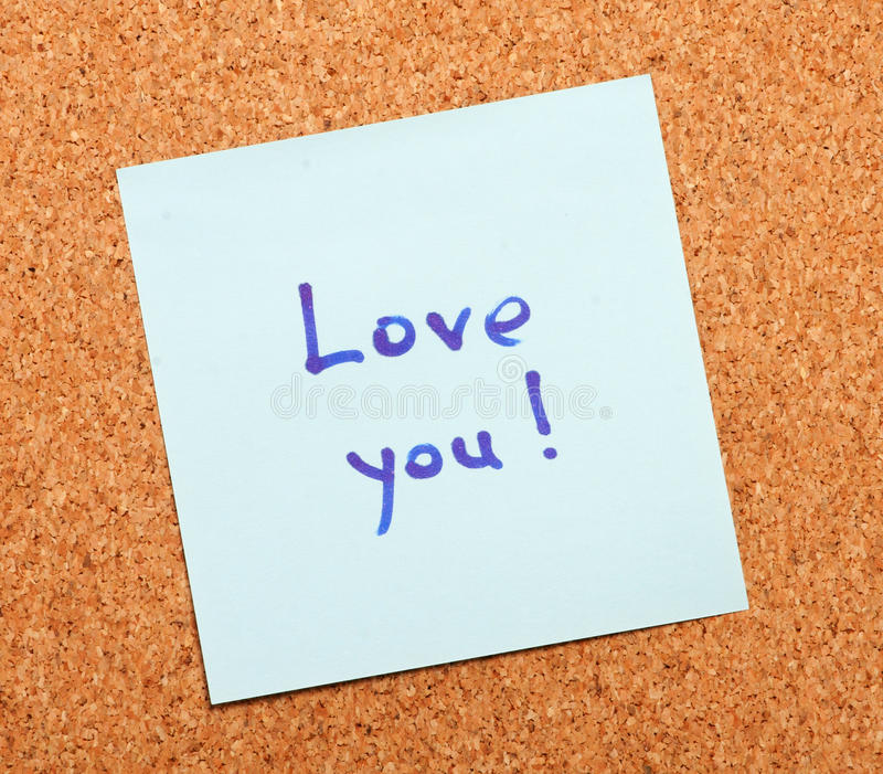 Love Confession On A Note Paper Royalty Free Stock Image