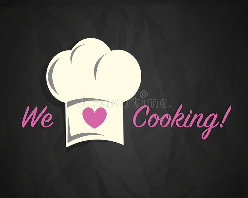 Love cooking vector illustration