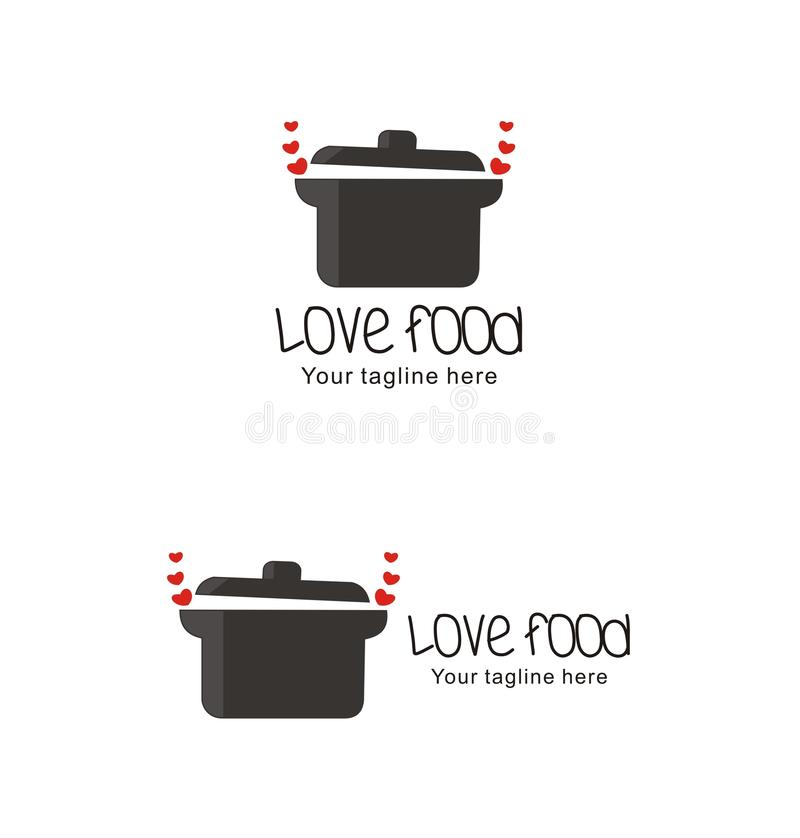 Love cooking logo stock illustration