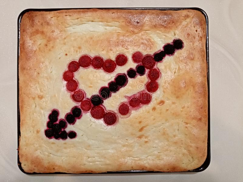 Love is... cooking pies with hearth stock photography