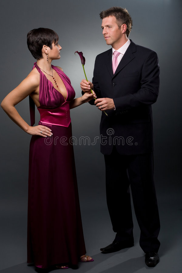 Love Couple with flower royalty free stock photos