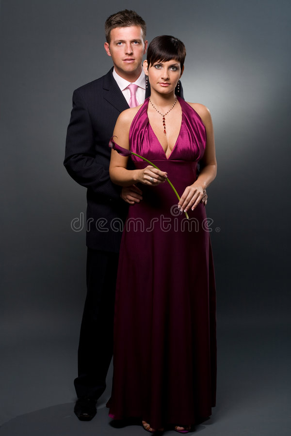 Love Couple with flower stock images