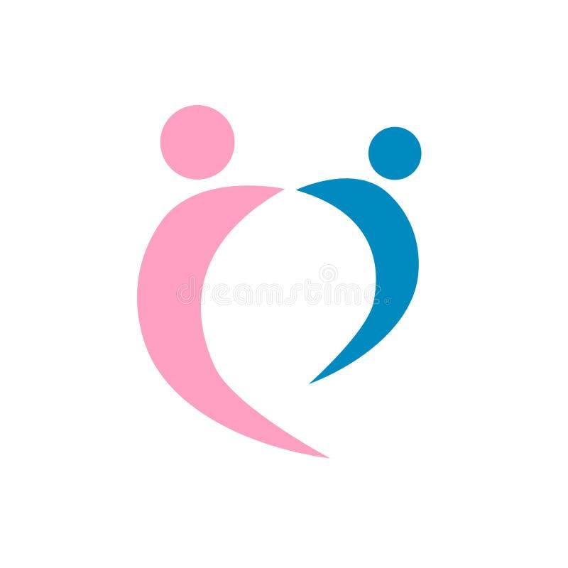 Love Couple Logo Vector Royalty Free Stock Image