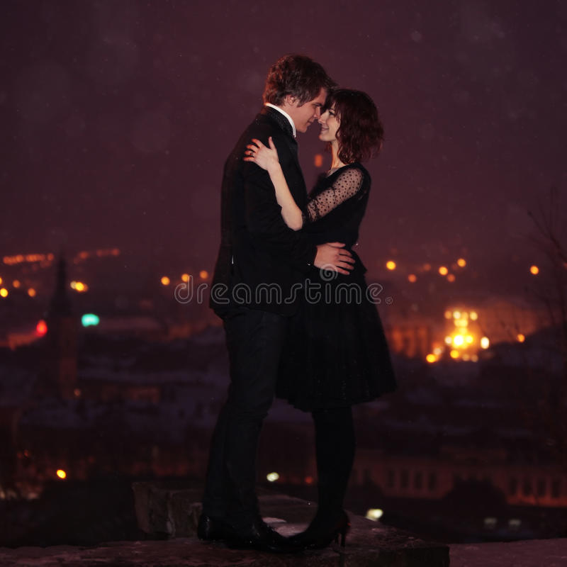 Free LOVE COUPLE On Valentine S Night Royalty Free Stock Images - 12928369