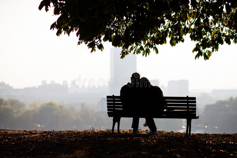Love couple in the park royalty free stock photography