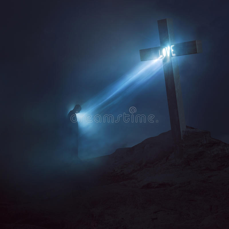 Love from the cross stock photos