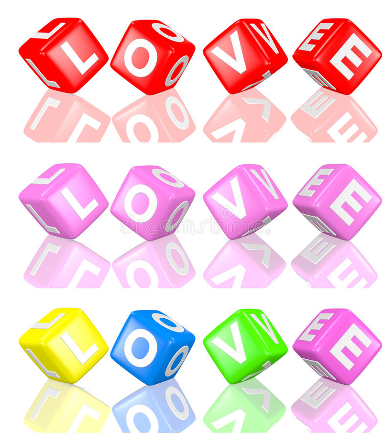 Download Love cubes stock illustration. Illustration of letter - 24826641