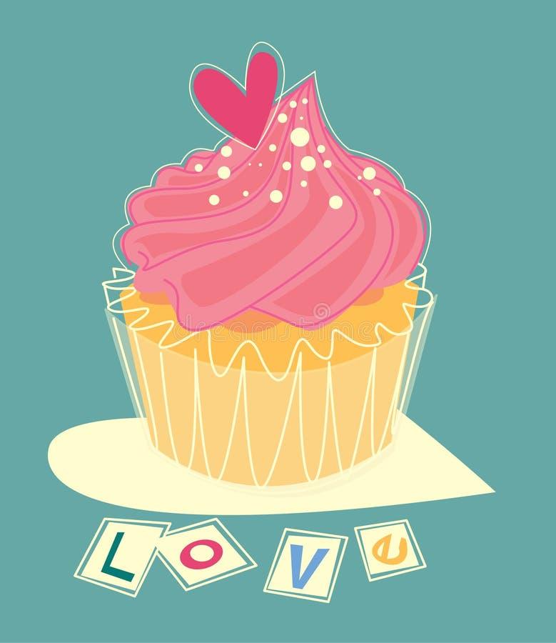 Love cupcake royalty free illustration