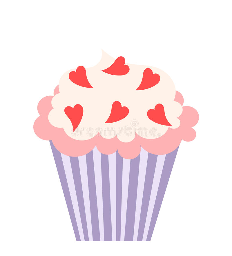 Download Love cupcake stock vector. Illustration of holiday, heart - 28953573