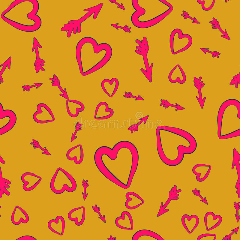 Love Cupid Arrows Background Can be used for cover design or scrapbooking, vector seamless tile vector illustration