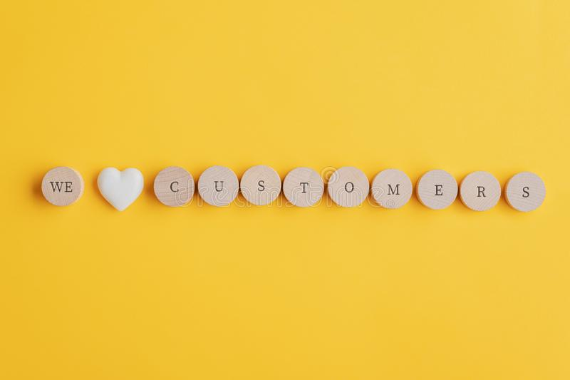 We love customers sign royalty free stock image