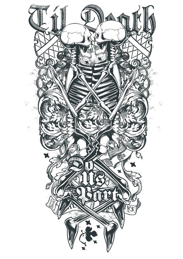 Love until death royalty free illustration