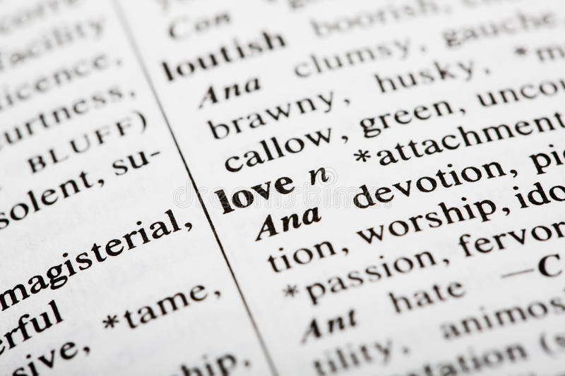 Download Love Definition Stock Image. Image Of Paper, Detail, Definition    10820629