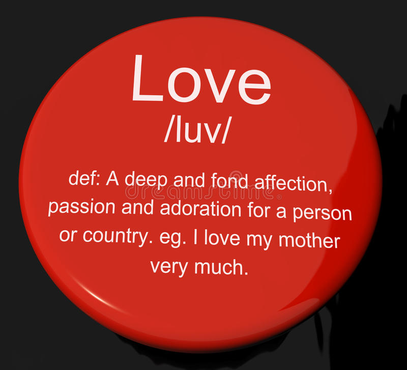 Download Love Definition Button Showing Affection Stock Image - Image: 24720509