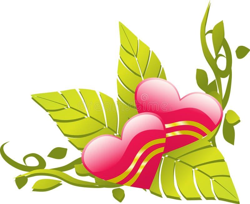 Love design floral corner vector illustration