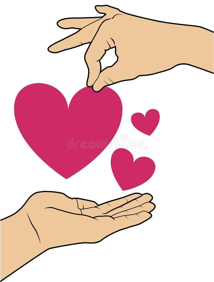 Love. Design over background vector illustration royalty free illustration