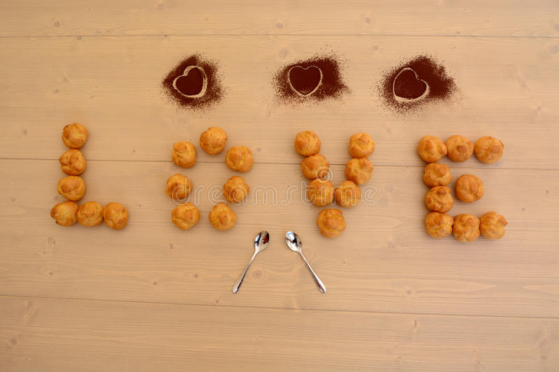 Love and desserts royalty free stock photo