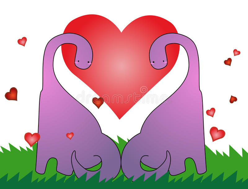 Download Love Dinosaur, Valentines Card Stock Vector - Image: 28552881