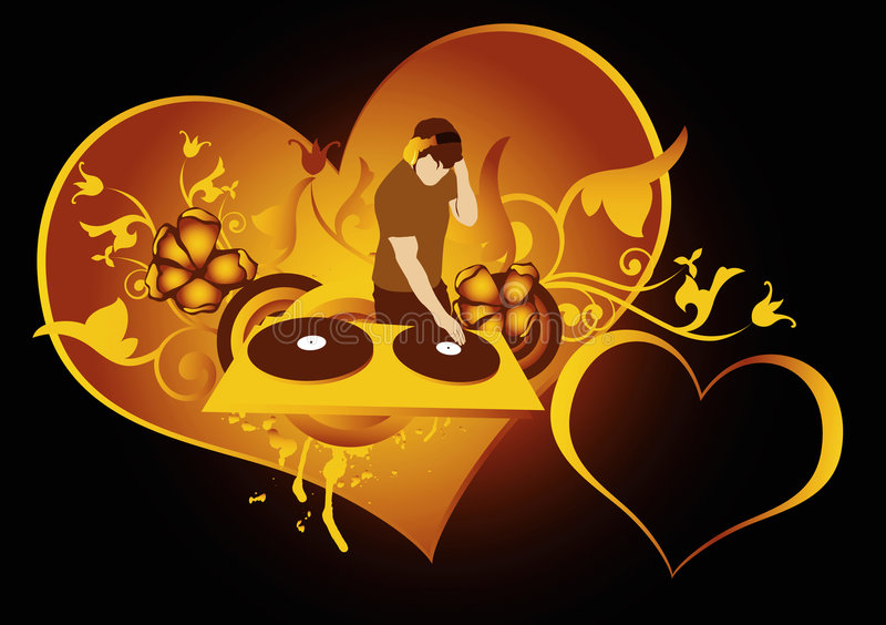 Download Love  discotheque stock illustration. Image of disco, golden - 4045775