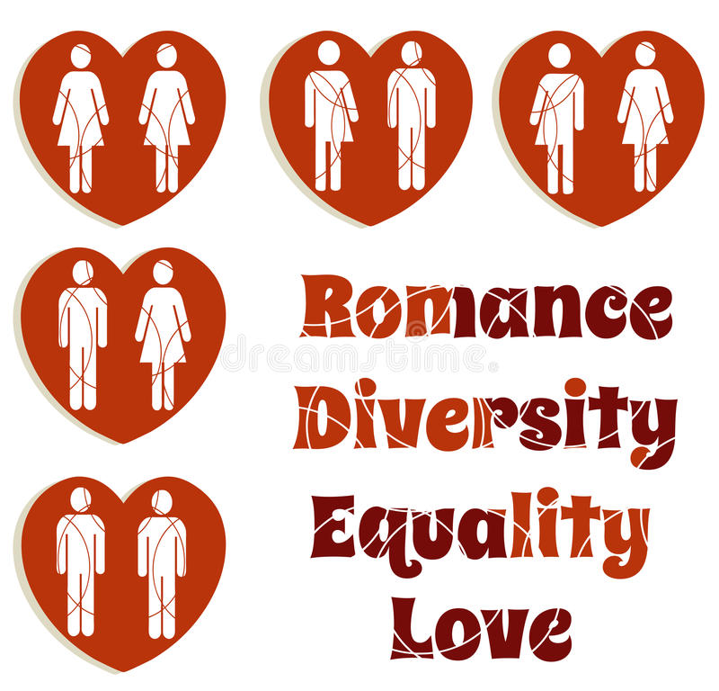 Love and diversity royalty free illustration